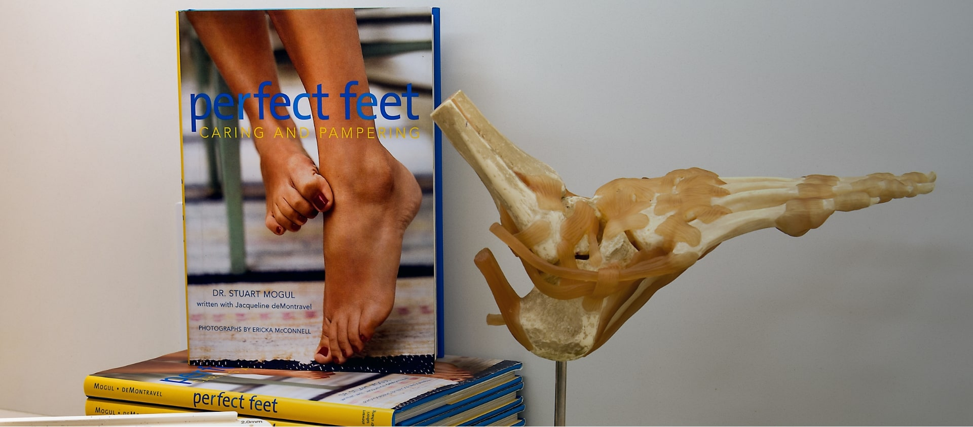 Dr, Mogul's Book titled perfect feet caring and pampering